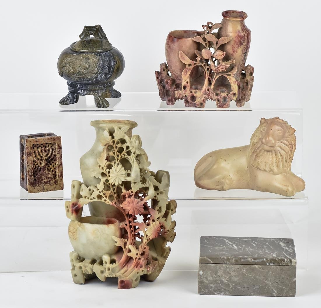 Six Chinese Stone Carvings