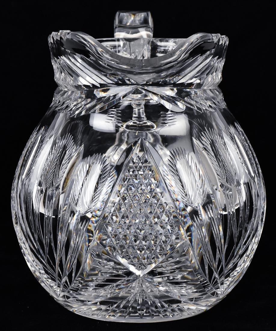 Libby Cut Glass Pitcher - 4