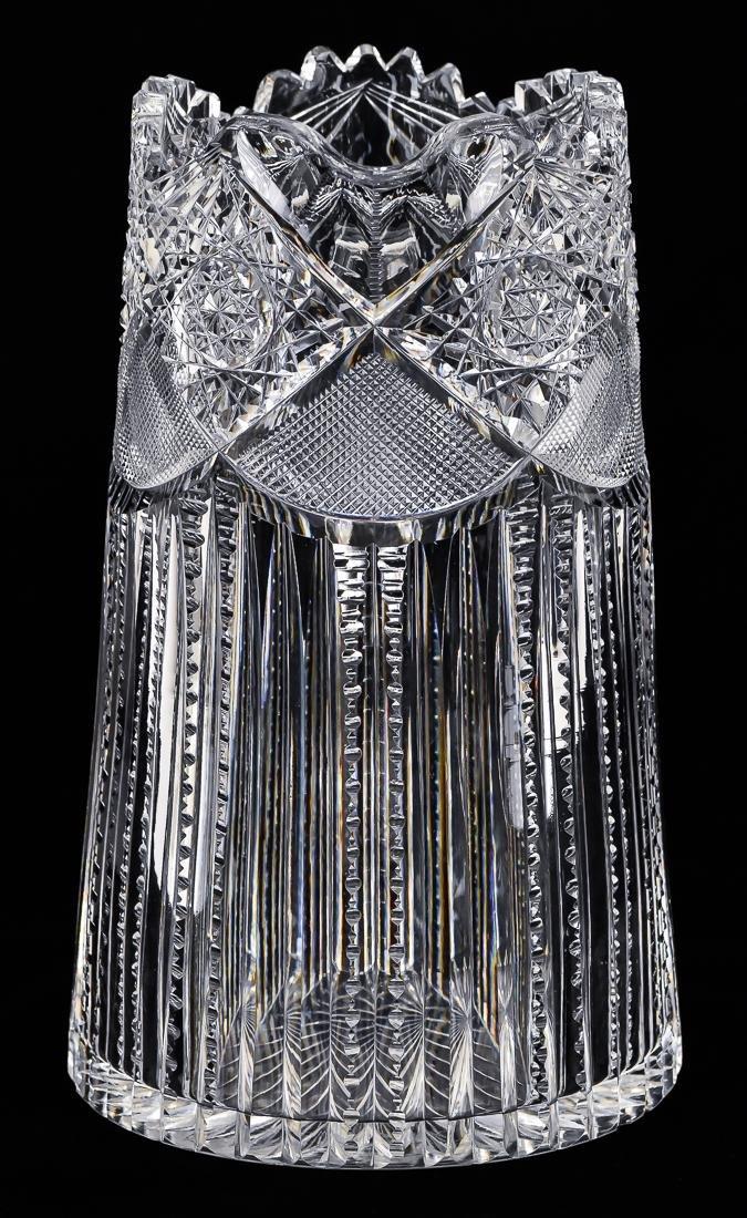 American Cut Glass Pitcher - 3