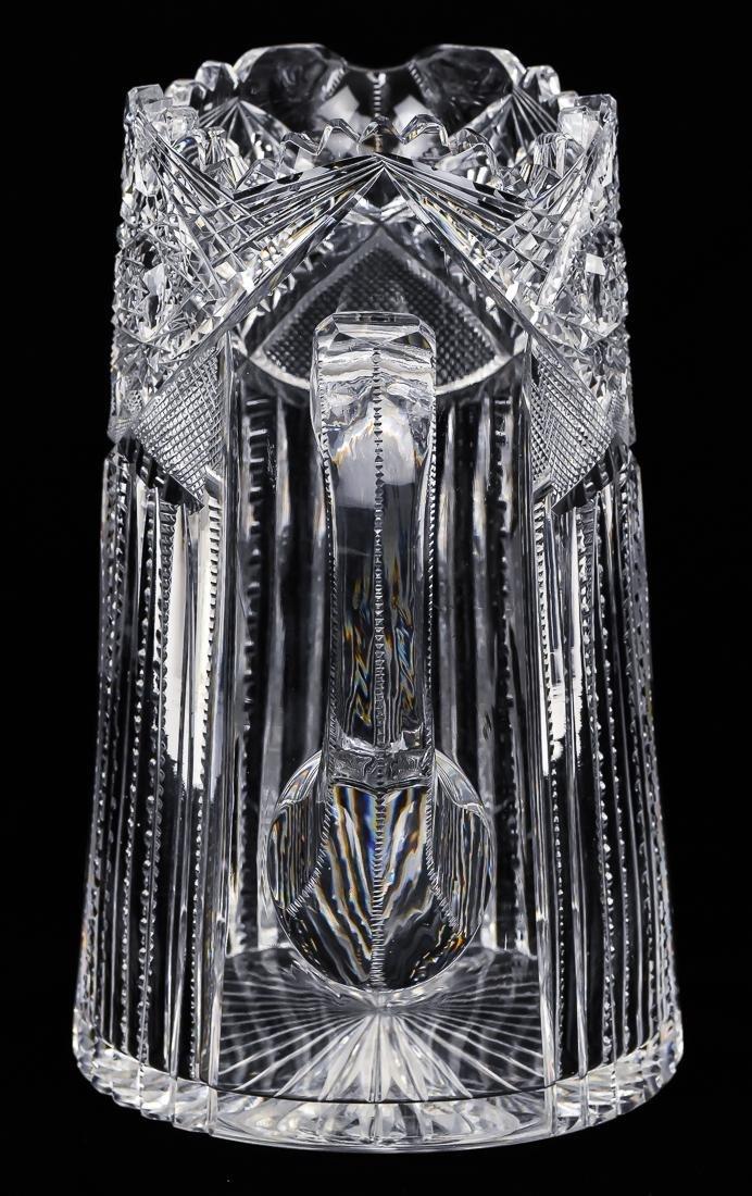 American Cut Glass Pitcher - 4