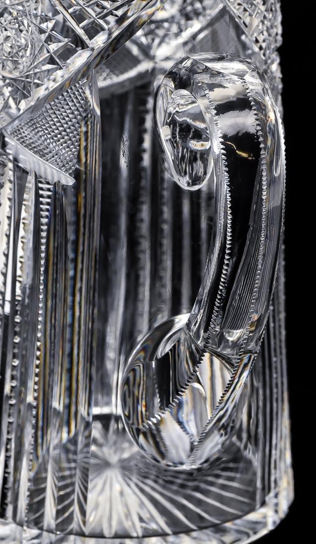 American Cut Glass Pitcher - 6