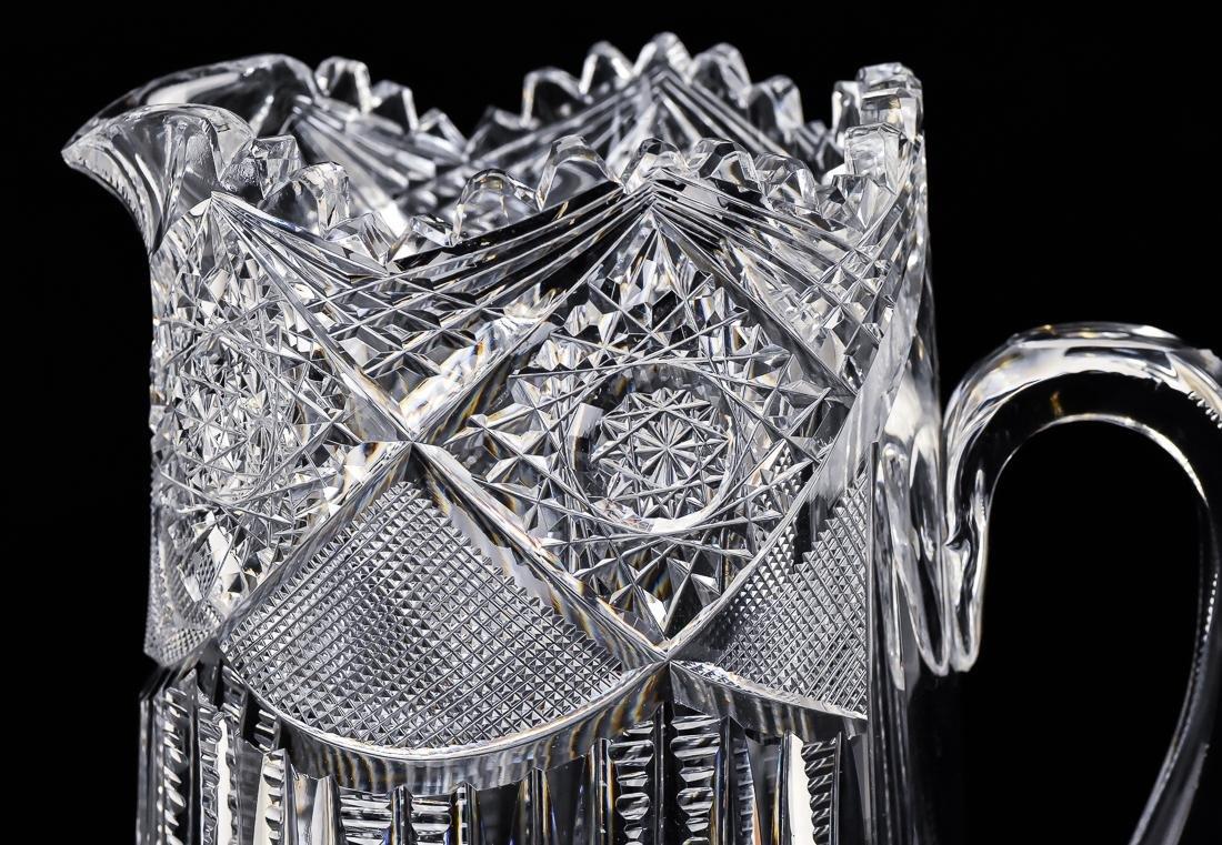 American Cut Glass Pitcher - 7