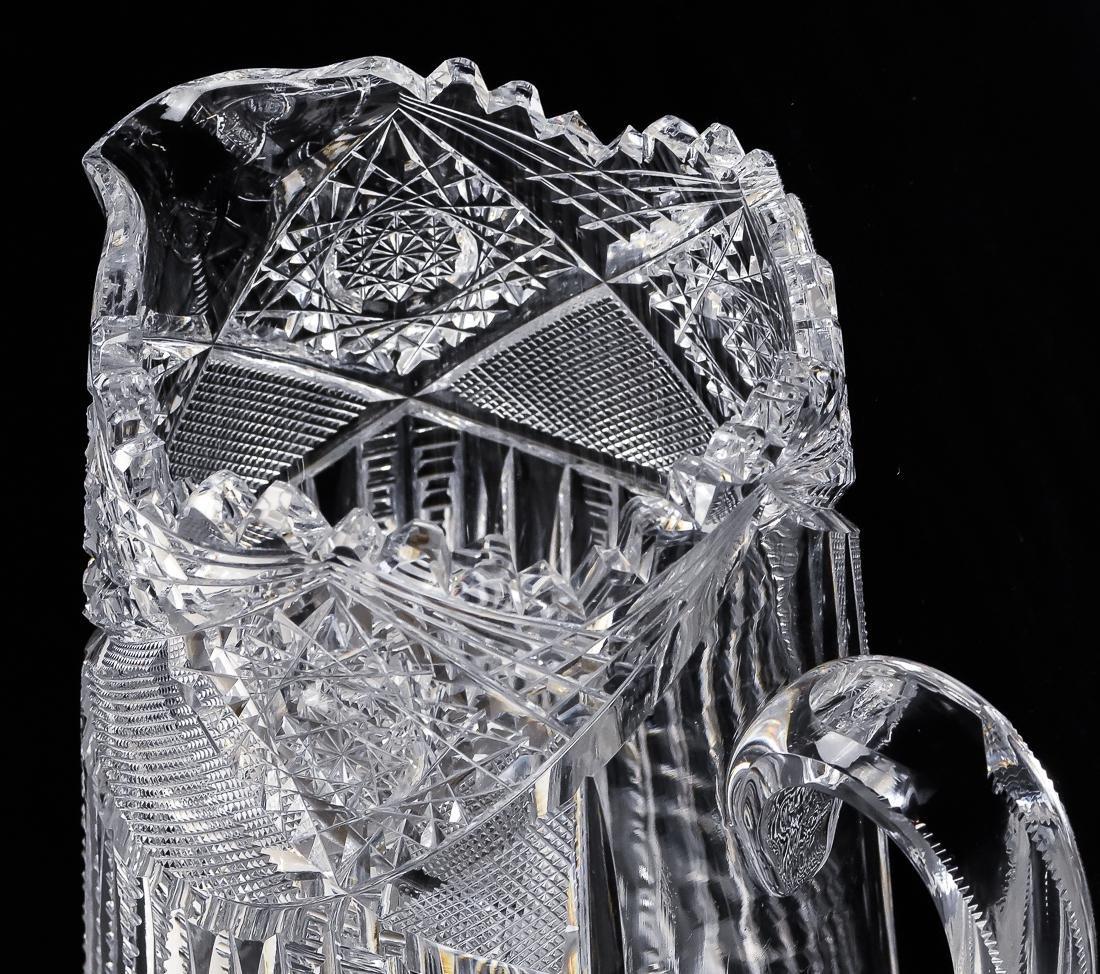 American Cut Glass Pitcher - 9