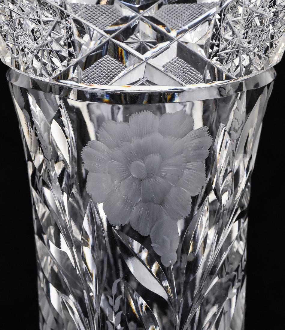 Two Cut Glass Vases - 4