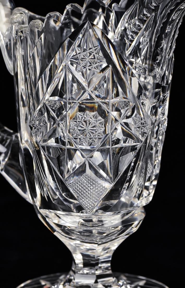 American Cut Glass Creamer and Sugar - 10