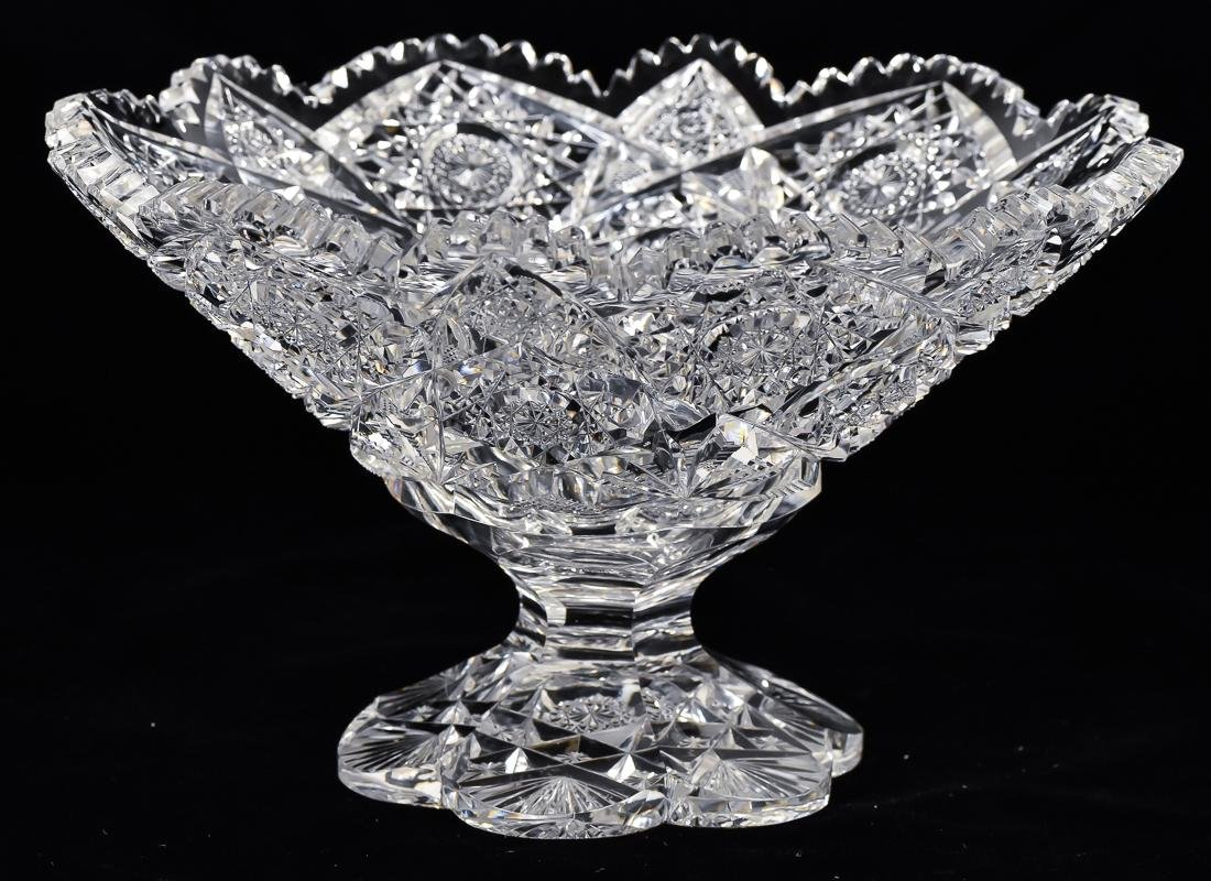 American Footed Cut Glass Compotes - 7