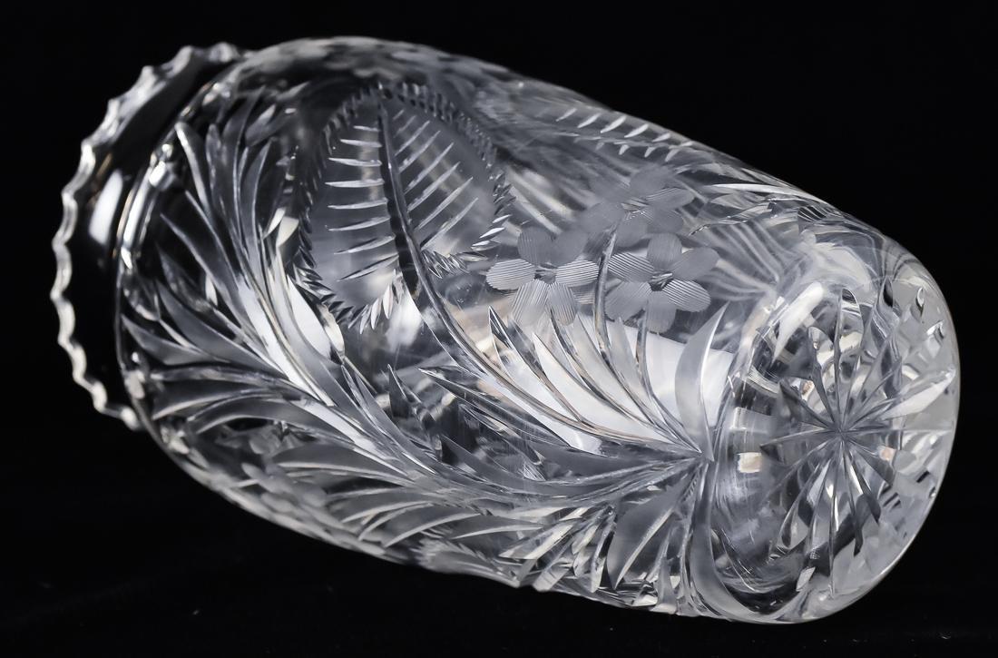 Pair Cut Glass Vases - 3