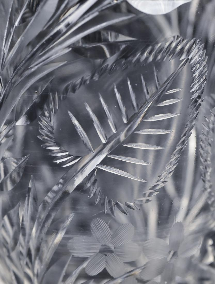 Pair Cut Glass Vases - 4