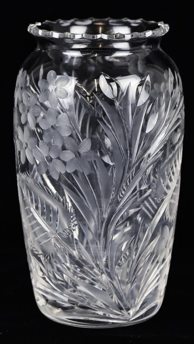 Pair Cut Glass Vases - 7