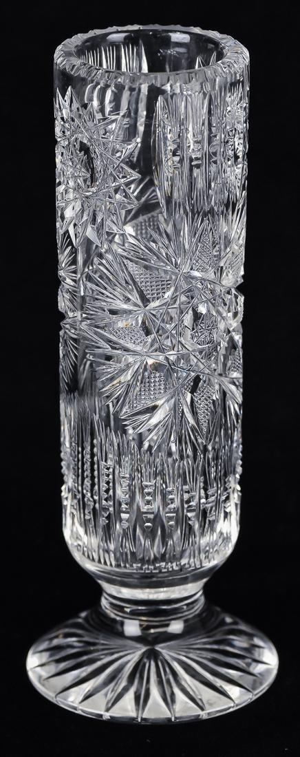 Three Cut Glass Vases - 5