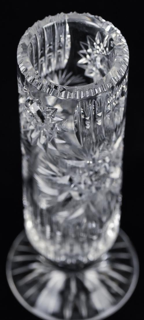 Three Cut Glass Vases - 6