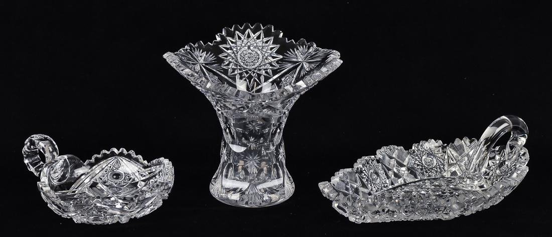 Three Pieces of American Cut Glass