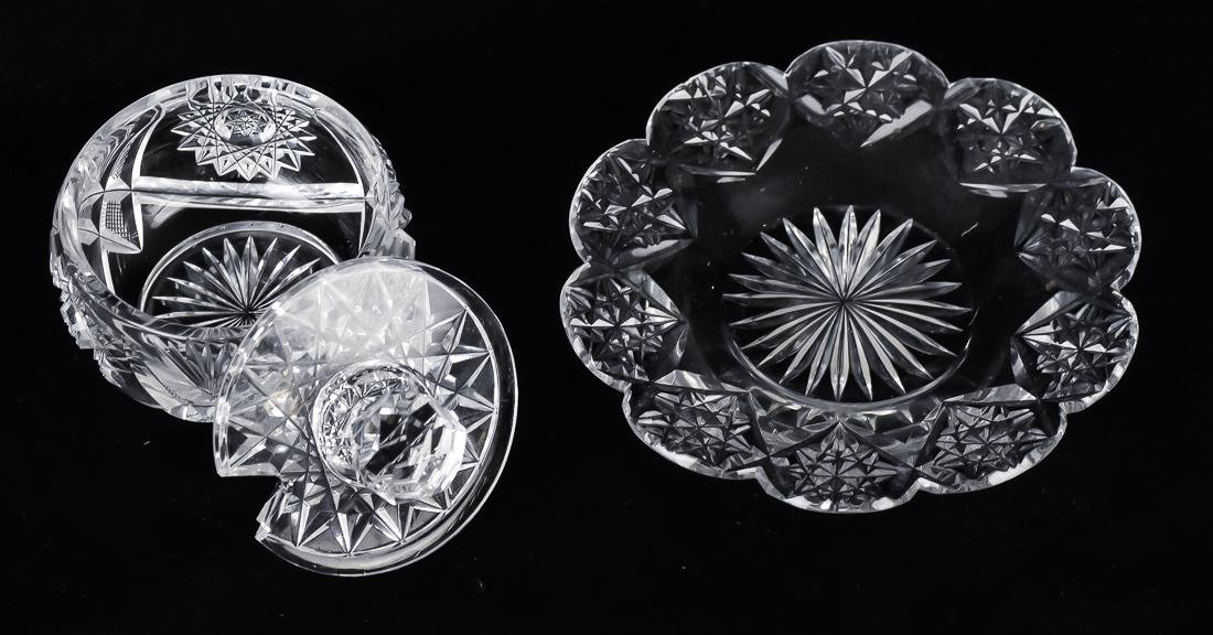 Three Pieces of Cut Glass - 5