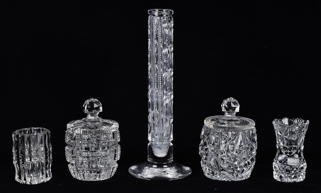 Five Pieces of Cut Glass