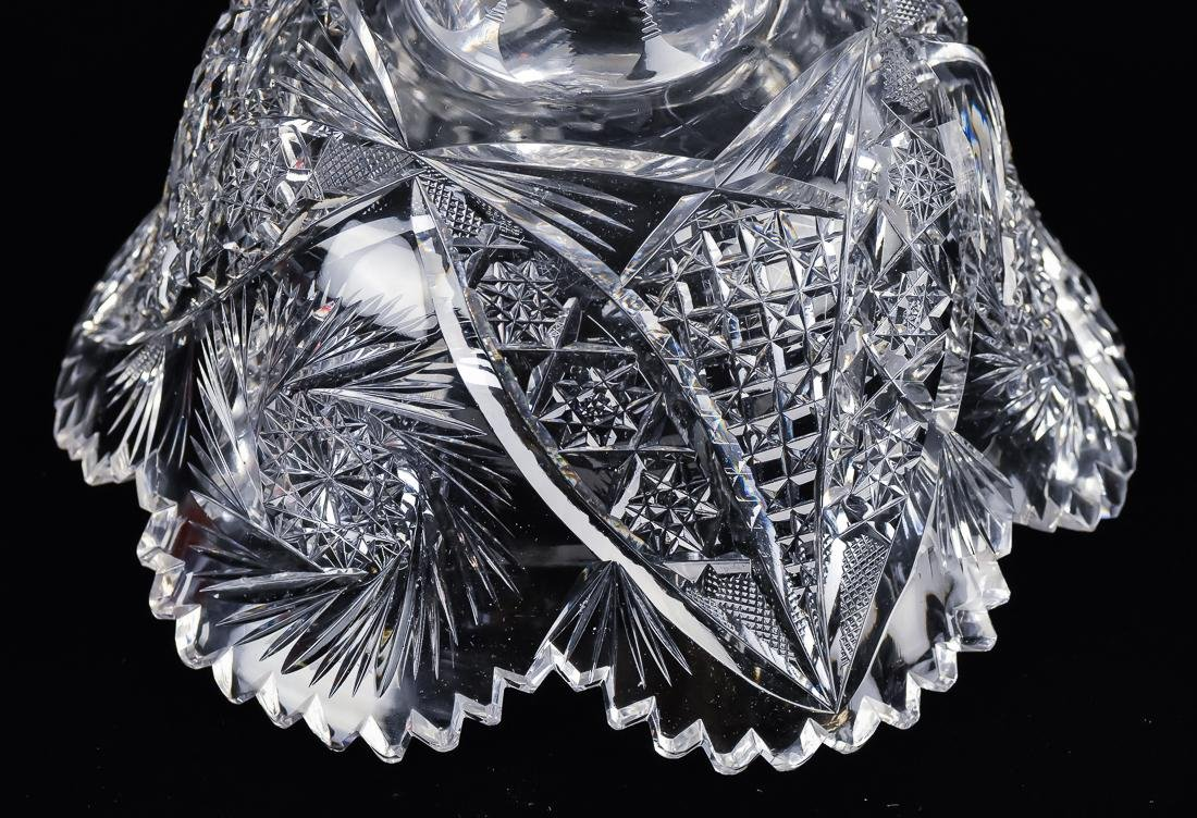 American Cut Glass Footed Bowl - 4