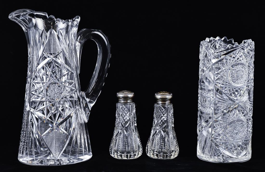 Four Pieces of Cut Glass