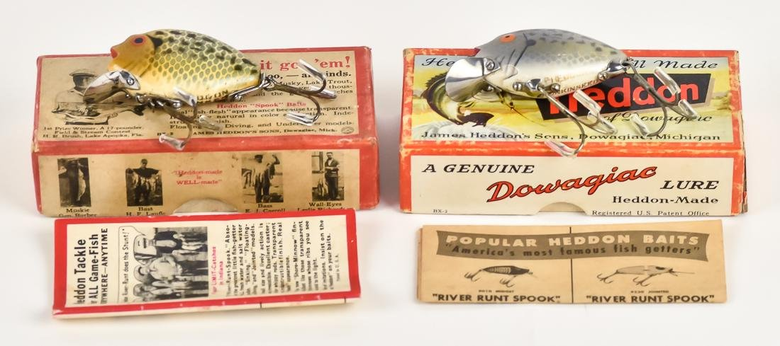 Two Heddon Punkin Seed Fishing Lures in Original Boxes