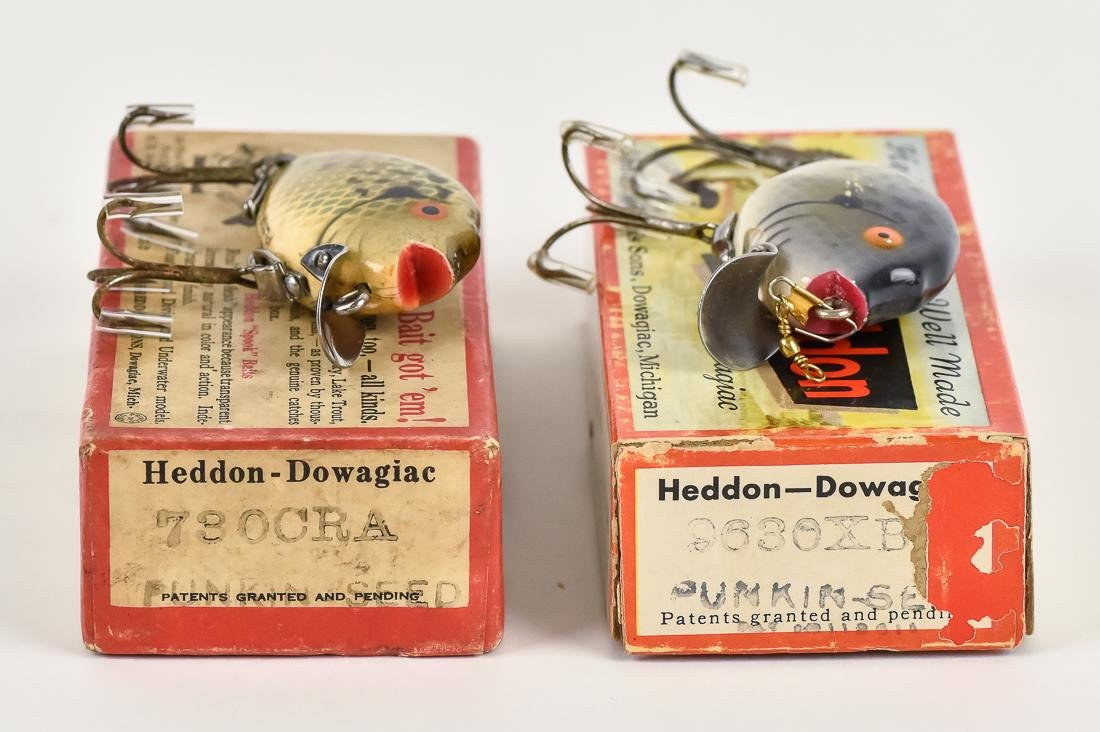 Two Heddon Punkin Seed Fishing Lures in Original Boxes - 6