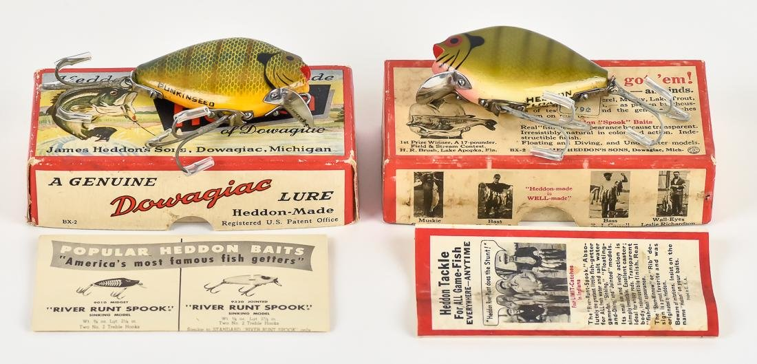 Two Heddon Punkin Seed Fishing Lures