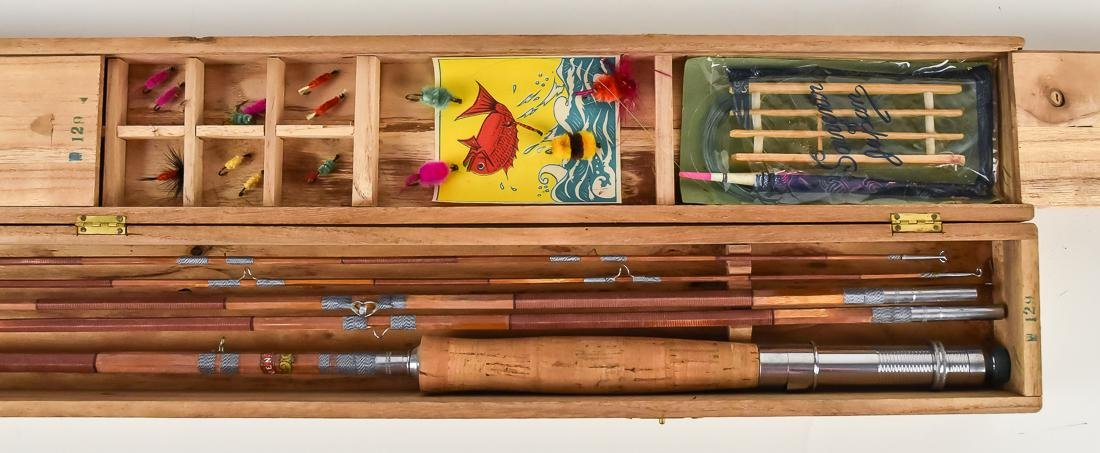 Early Boxed Bamboo Fly Fishing Rod - 5