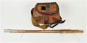 Early Creal & Bamboo Fishing Rod