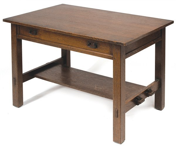 6: L. & J. G. STICKLEY LIBRARY TABLE, #529