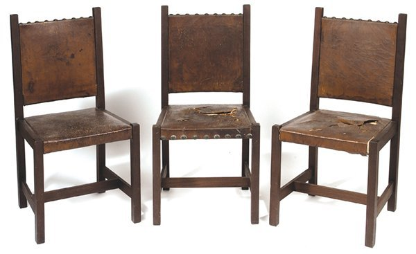 10: EARLY L. & J. G. STICKLEY SET OF THREE CHAIRS, #306