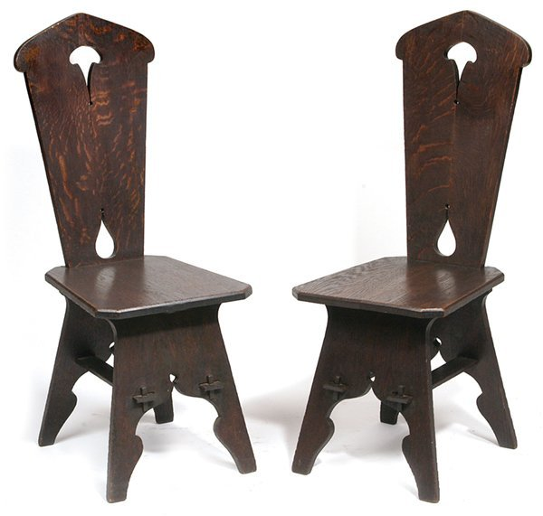 20: PR. OF ARTS & CRAFTS (MISSION) CHAIRS