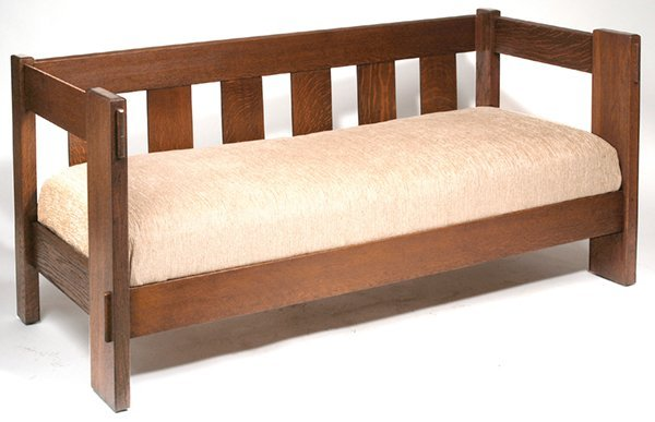 21: CHARLES STICKLEY EVEN ARM SETTLE