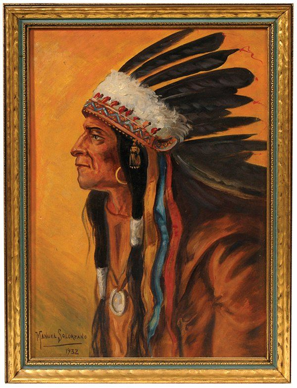 MANUEL SOLORZANO (MEXICO) INDIAN OIL PAINTING
