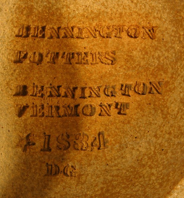 373: BENNINGTON POTTERY HANGING FACE SCULPTURE - 3
