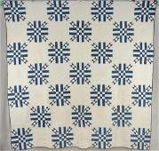Early Blue  White Pieced Quilt
