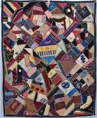 Embroidered Victorian Crazy Quilt