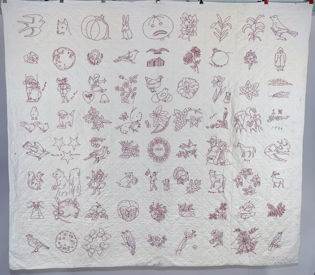 1906 Embroidered Quilt