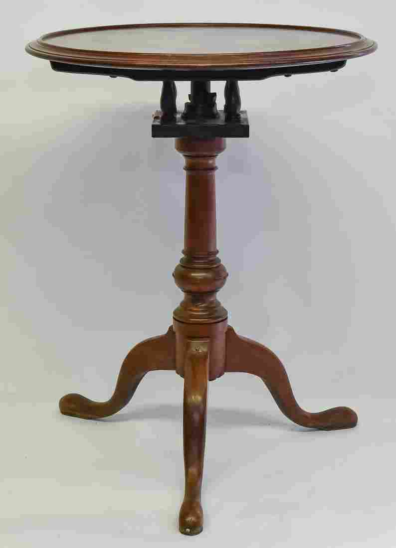 Period New England Dish Top Queen Anne Candlestand