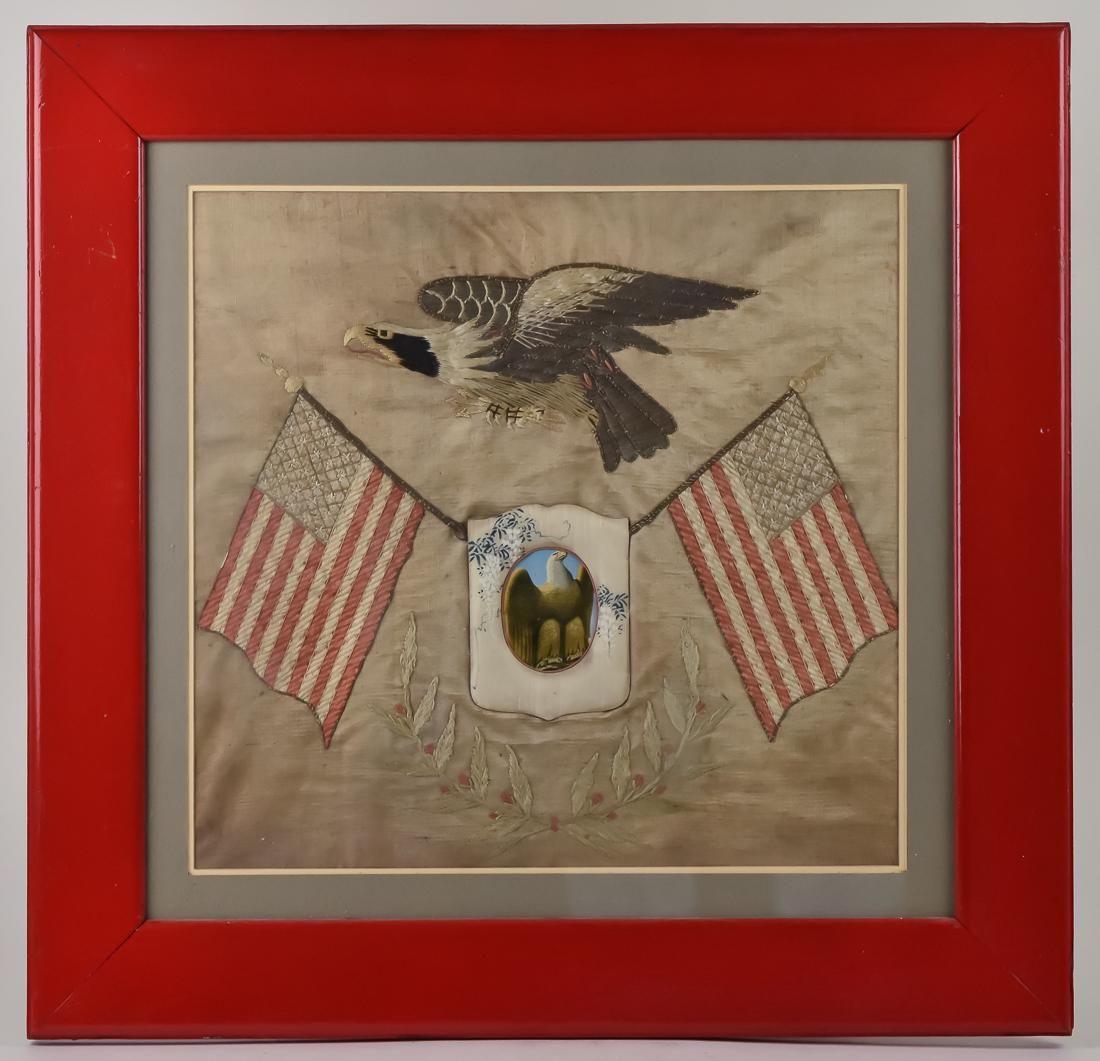 Sailors Oriental Silk Patriotic Embroidery