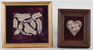 Two Iroquois Beadwork Pieces