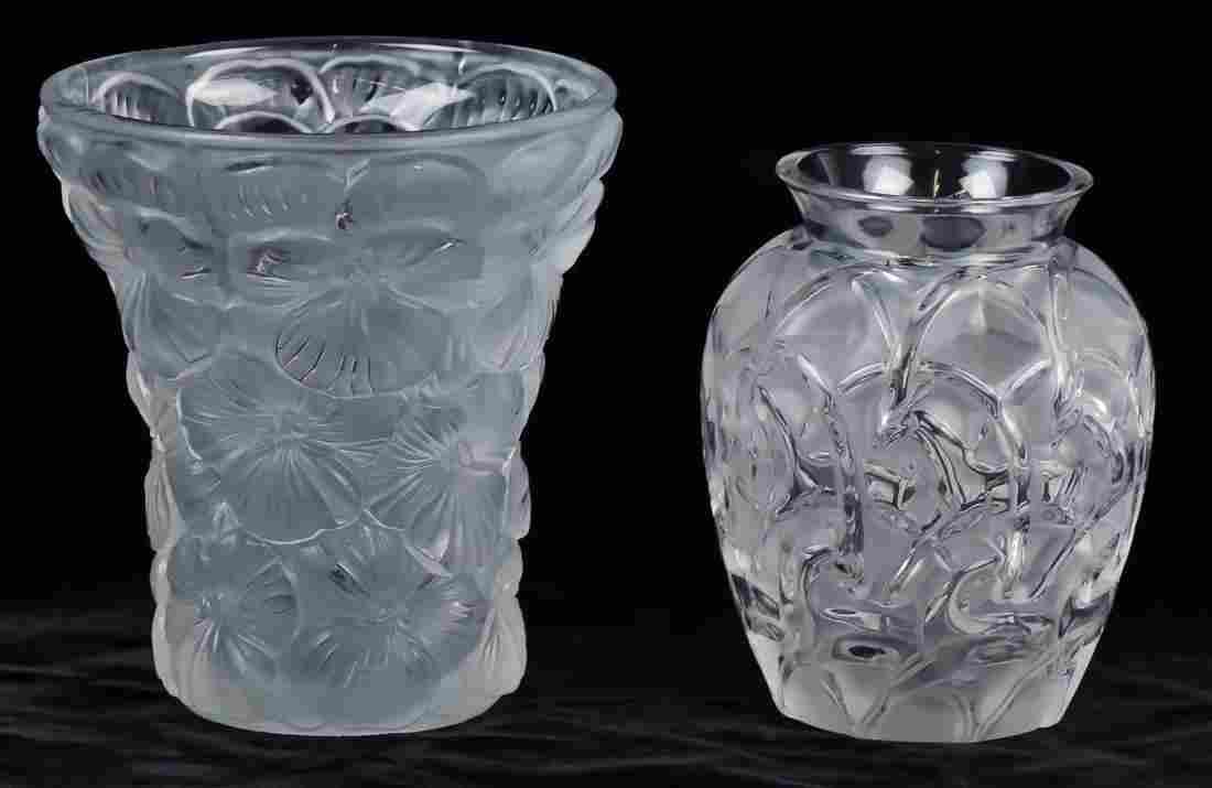 Lalique & Czech Crystal Vase