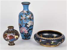 Three Pieces of Early Cloisonne