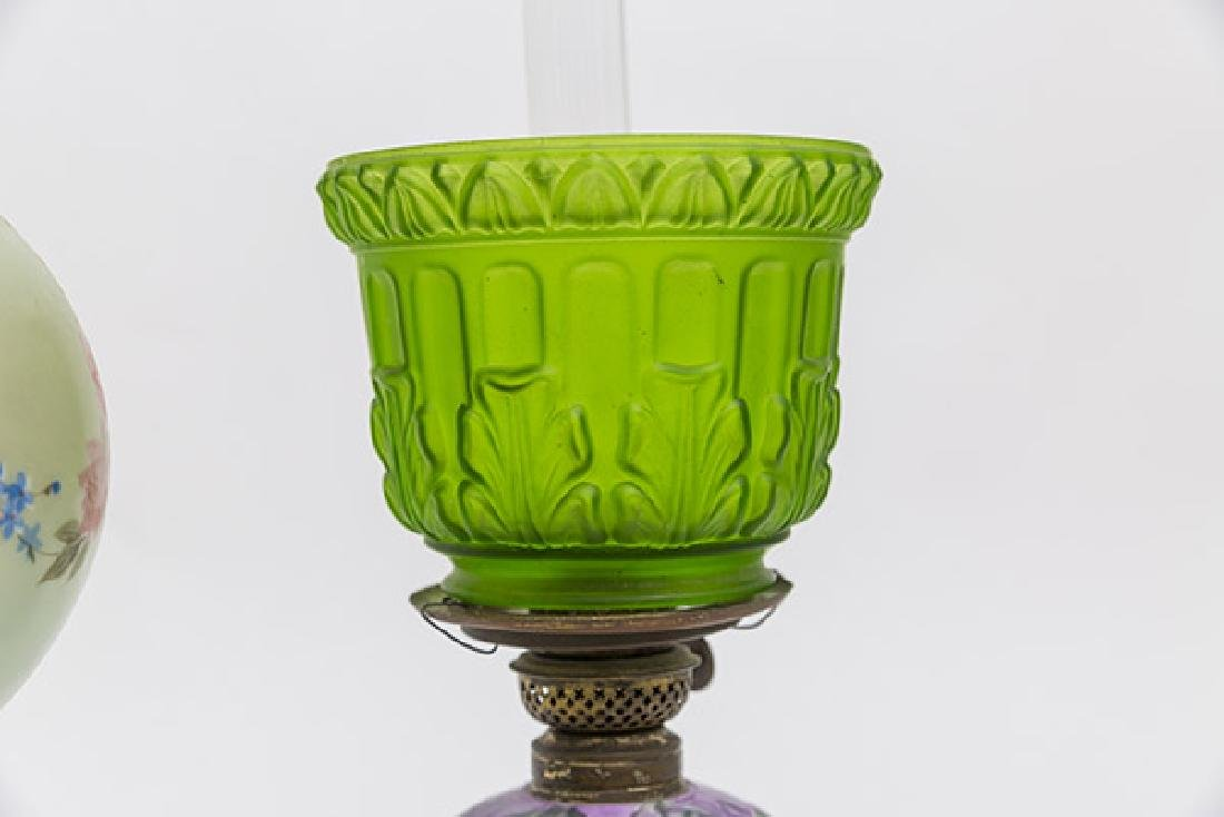 Two Victorian Porcelain Oil Lamps - 7