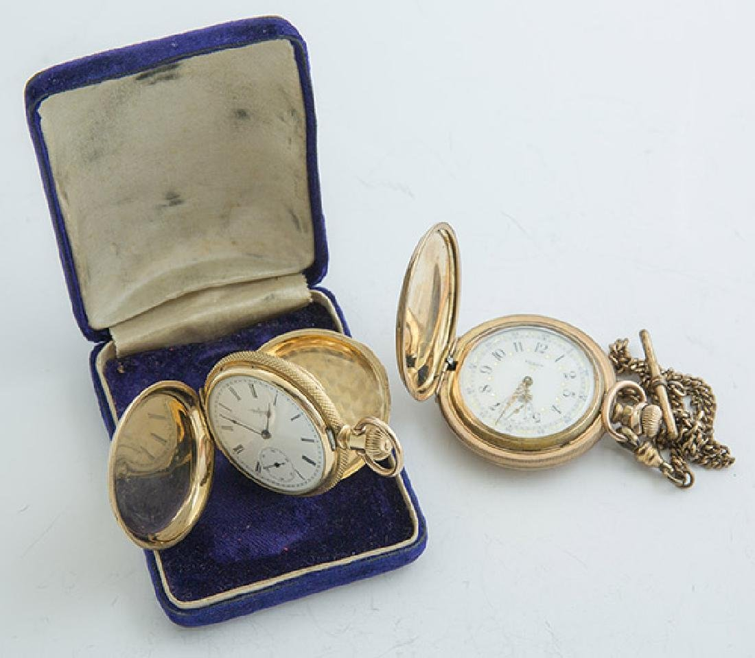 Two Elgin 6 Size Hunter Case Pocket Watches