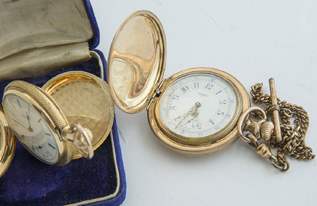 Two Elgin 6 Size Hunter Case Pocket Watches - 2