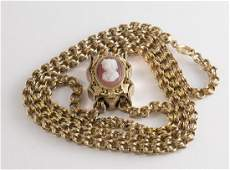 Victorian14k Gold & Cameo Necklace