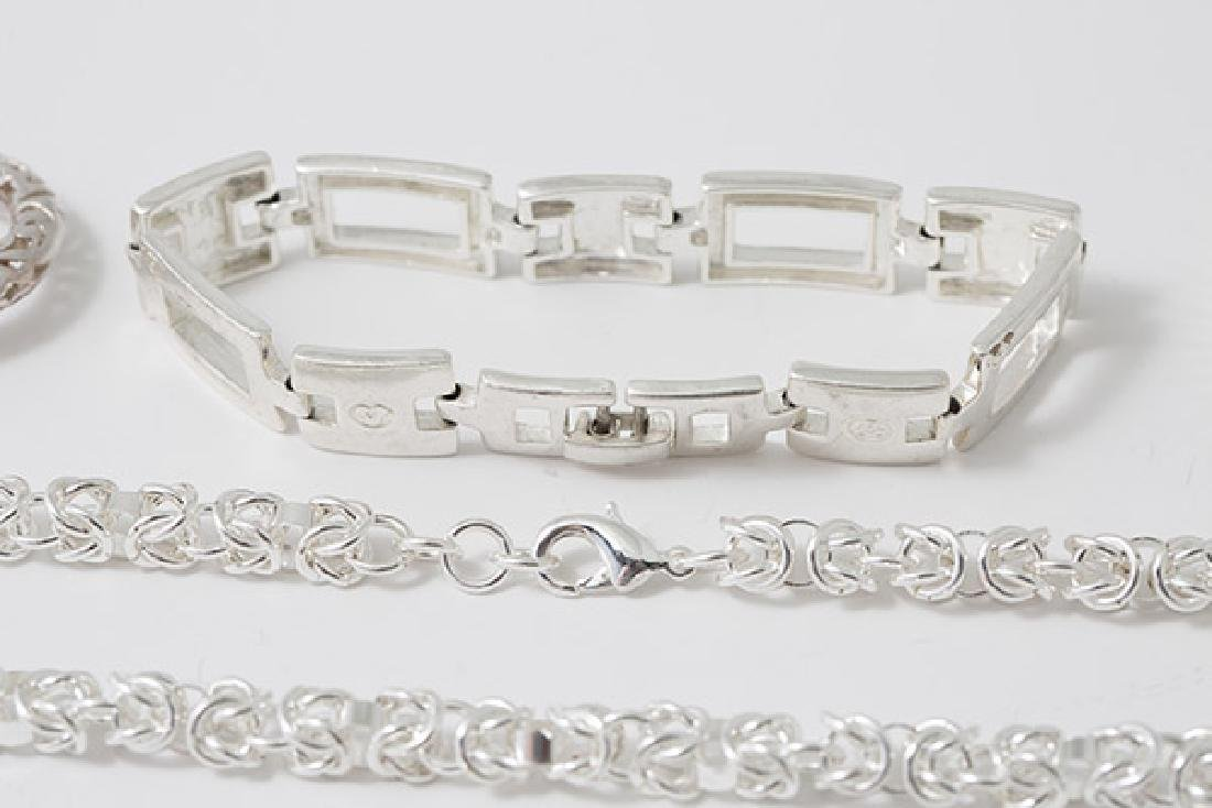 Eleven Pieces Sterling Jewelry - 3