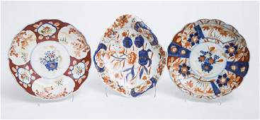 Three Pieces Japanese Imari Porcelain