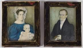 Pair Miniature Portraits
