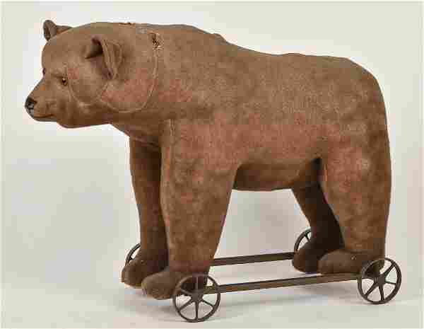 Large Early Steiff Riding Teddy Bear