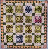Early Pieced Geometric Quilt
