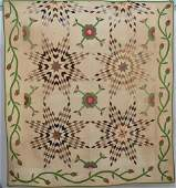 Early Pieced & Appliqued Quilt