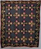 Early Appliqued & Pieced Quilt